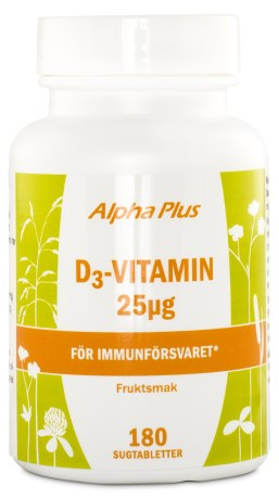 Alpha Plus D3-Vitamin 1000IE, Kosttillskott - Alpha Plus