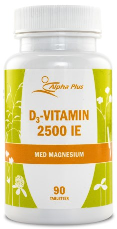 Alpha Plus D3 Vitamin 2500 IE, Kosttillskott - Alpha Plus