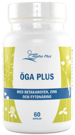Alpha Plus Öga Blåbär & Lutein,  - Alpha Plus