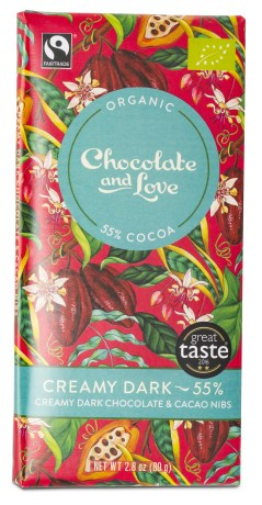 Chocolate and Love Creamy Dark Chocolate & Cacao Nibs, Livsmedel - Chocolate & Love