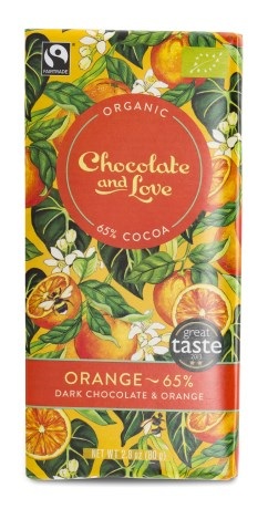 Chocolate and Love Dark Chocolate & Orange - Chocolate & Love