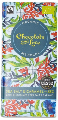 Chocolate and Love Dark Chocolate Seasalt & Caramel, Livsmedel - Chocolate & Love