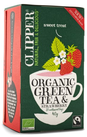Clipper Tea Green Tea & Strawberry, Livsmedel - Clipper
