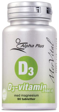 Alpha Plus D3-Vitamin 2500IE, Kosttillskott - Alpha Plus
