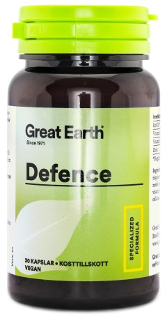Great Earth Defence, Kosttillskott - Great Earth