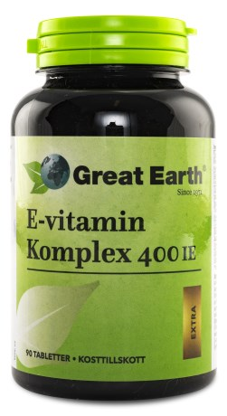Great Earth E-vitamin Komplex 400 IE, Kosttillskott - Great Earth