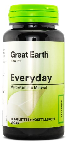 Great Earth Everyday, Kosttillskott - Great Earth