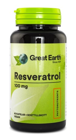 Great Earth Resveratrol 100 mg, Kosttillskott - Great Earth