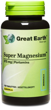 Great Earth Super Magnesium, Kosttillskott - Great Earth