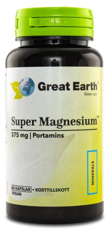 Great Earth Super Magnesium 375 mg,  - Great Earth