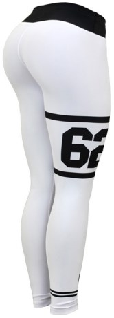 Six Deuce Jersey White Fitness Tights,  - Six Deuce