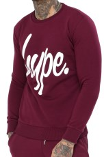 Just Hype Mens Script Crewneck