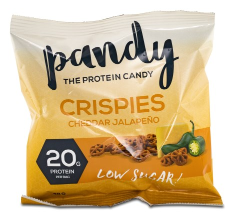 Pandy Protein Crispies Cheddar Jalapeno, Livsmedel - Pandy Protein