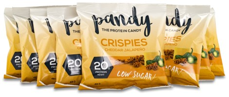 Pandy Protein Crispies Cheddar Jalapeno - Pandy Protein
