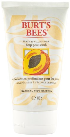Burts Bees Peach & Willow Bark Deep Pore Scrub - Burts Bees