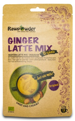 RawPowder Ginger Latte Mix EKO, Livsmedel - RawPowder