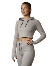 RELODE Mellow Cropped Hoodie