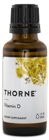Thorne D-vitamin flytande 500 IE, Kosttillskott - Thorne Research