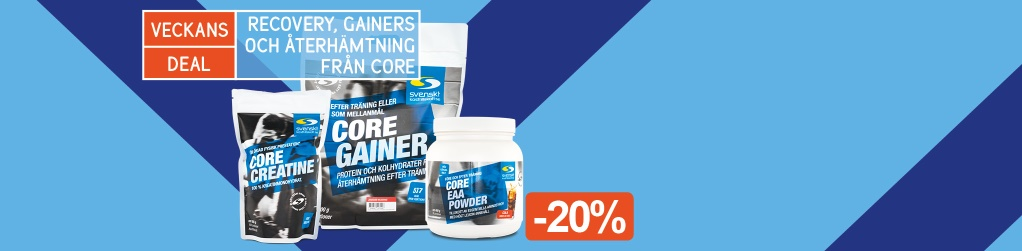 Veckans Deal! -20% på gainers & recoverys