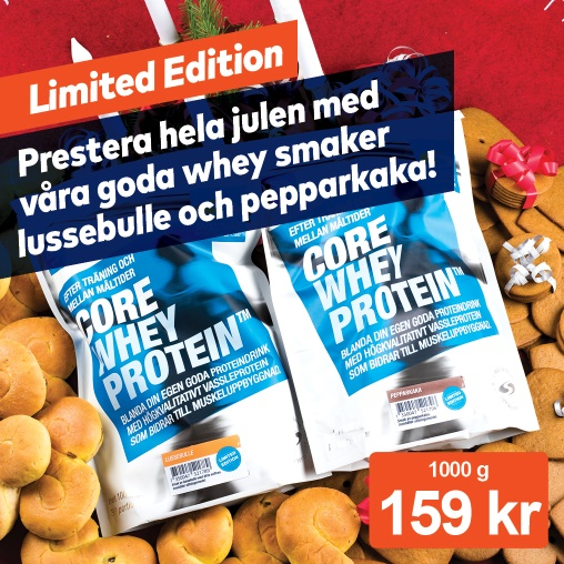 Limited edition! Core Whey lussebulle & pepparkaka!