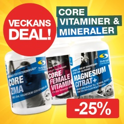 Veckans Deal! Core vitaminer/ mineraler