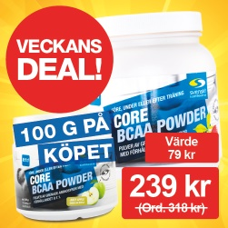Core BCAA Powder + 100 g på köpet