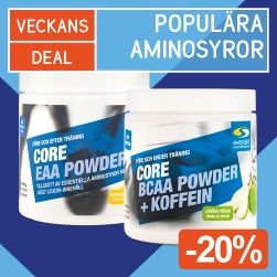 Veckans Deal! Core EAA Powder + Core BCAA Powder -20%